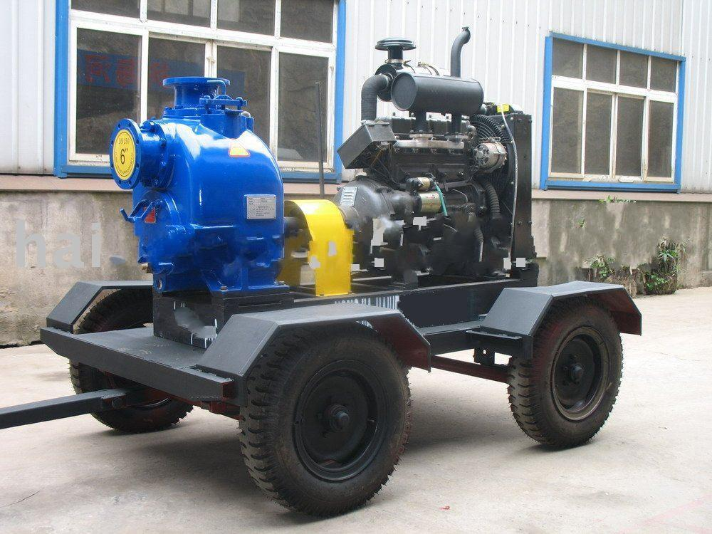 Moveable Self-priming Diesel Engine Trash Pump